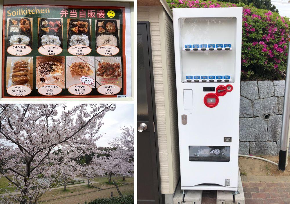 日本初!? 公園にも弁当自販機がオープン!